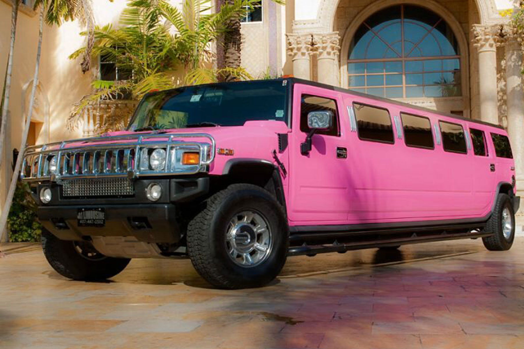 Pink Hummer Limo Hire MK